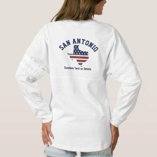 Texas Map | Patriotic USA Flag | Your City Spirit Jersey