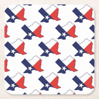 TEXAS MAP SQUARE PAPER COASTER