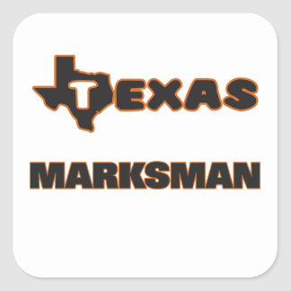 Texas Marksman Square Sticker