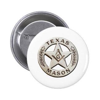 Texas Mason 2 Inch Round Button