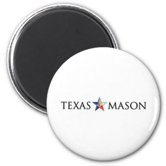 Texas Mason 2 Inch Round Magnet