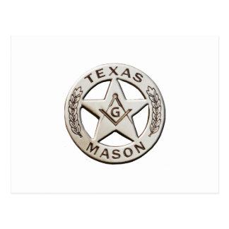 Texas Mason Postcard