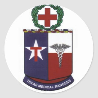 texas medical Rangers round decal Classic Round Sticker