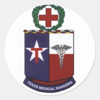 texas medical Rangers round decal Round Sticker