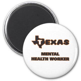Texas Mental Health Worker 2 Inch Round Magnet