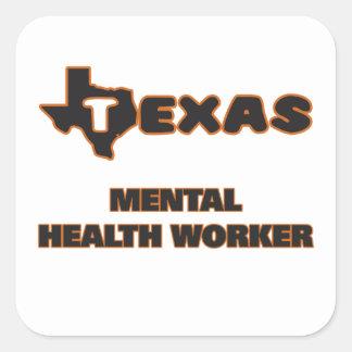 Texas Mental Health Worker Square Sticker