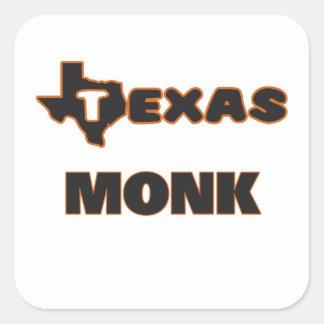 Texas Monk Square Sticker