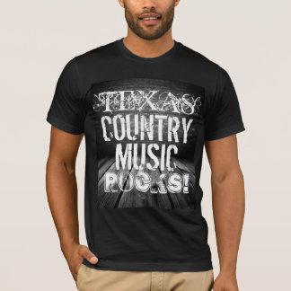 Texas Music Rocks Basic Black T-Shirt