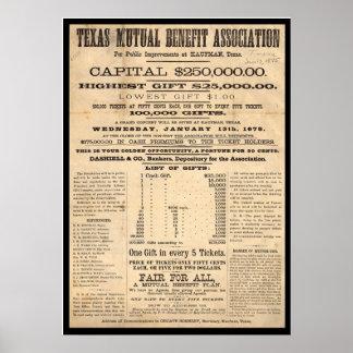 Texas Mutual Benefit Association Poster