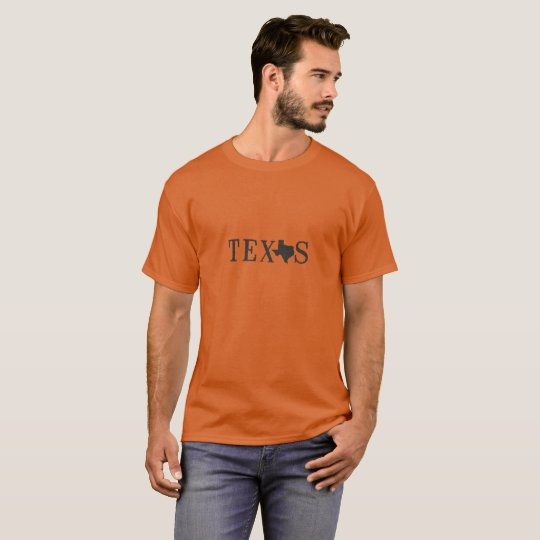 Texas Name with State Shaped Letter T-Shirt