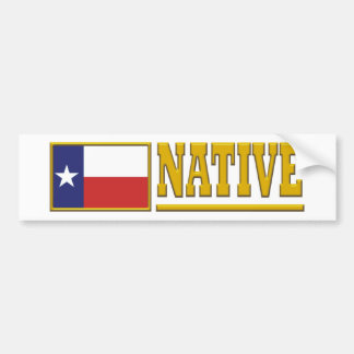 Texas Native Bumper Sticker