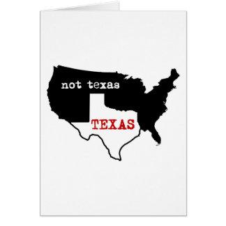 Texas Not Texas Cards