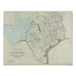 Texas of the United States of America Poster
