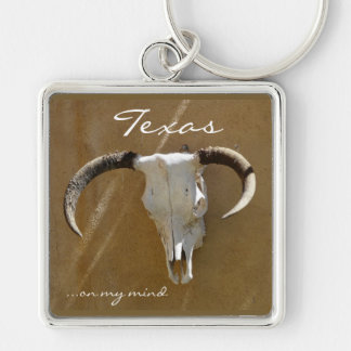 Texas on my mind/Longhorn Skull Keychain