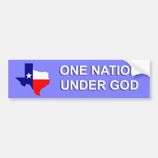 Texas - One Nation Under God Bumper Sticker