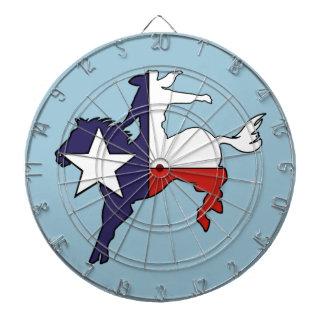 Texas outline bucking horse cowboy flag dart boards