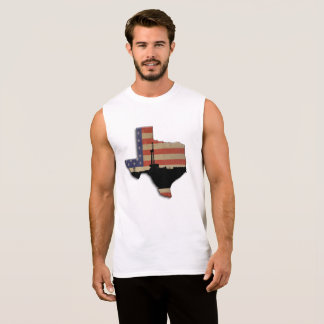 Texas Patriotic Oil Drilling Rig Sleeveless Shirt