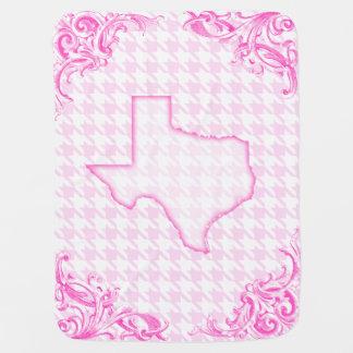 Texas Pink Baby Blanket