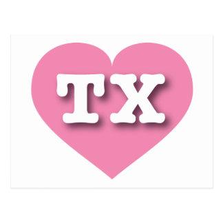 Texas pink heart - Big Love Postcard