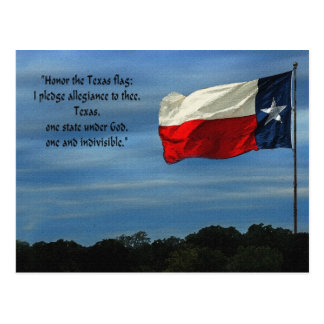 Texas Pledge Postcard