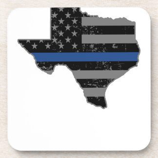 Texas Police & Law Enforcement Thin Blue Line Drink Coasters