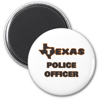 Texas Police Officer 2 Inch Round Magnet
