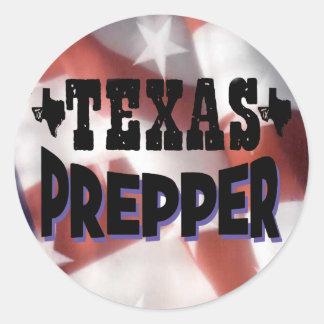 Texas Prepper Classic Round Sticker