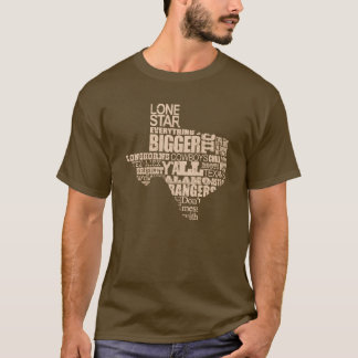Texas Proud - Texas Shape(light graphic) T-Shirt