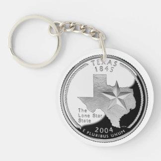 Texas Quarter Keychain