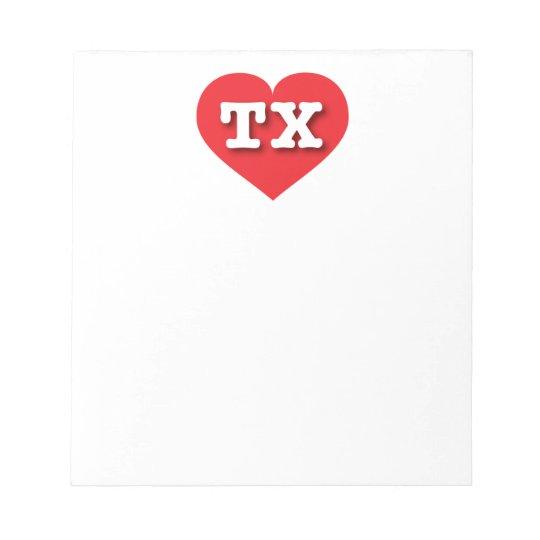 Texas Red Heart - Big Love Notepad