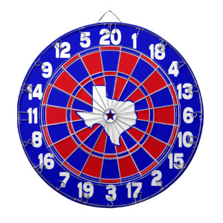 Texas Red White & Blue Dartboard