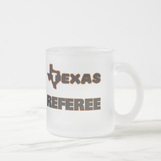 Texas Referee Frosted Glass Coffee Mug