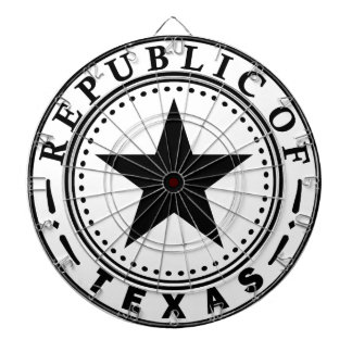 Texas (Republic of Texas Seal) Dartboard