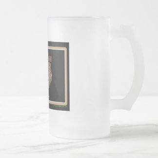 TEXAS Rig Up Camo Frosted Glass Beer Mug