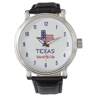 Texas Rocks Red White & Blue Watch