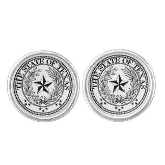 Texas Round Cufflinks, Silver Plated Cufflinks