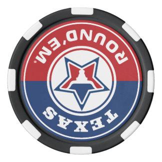 Texas Round'em® Chip Set Poker Chips