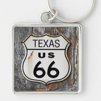 Texas Route 66 Keychain