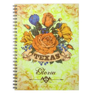 Texas, Rustic Floral Notebook