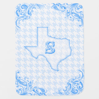 "Texas ""S"" Blue Baby Blanket"