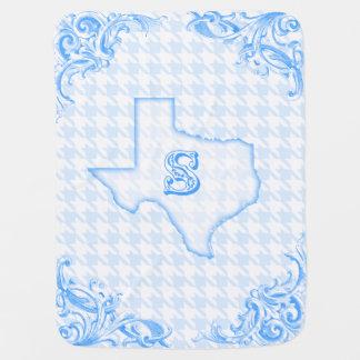 """Texas """"S"""" Blue Stroller Blanket"""