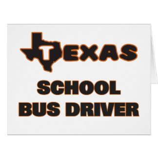 Texas School Bus Driver Large Greeting Card