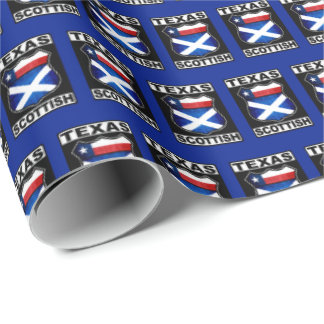 Texas Scottish American Gift Wrap