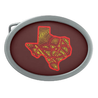 Texas Scribbleprint Belt Buckles