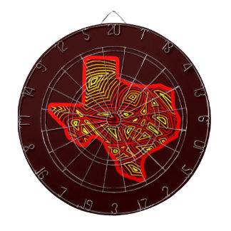 Texas Scribbleprint Dart Boards
