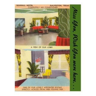 Texas, Sea Wall Hotel, Galveston Postcard