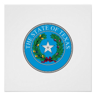 Texas seal, American state seal Poster