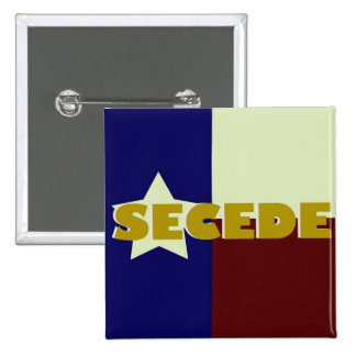 Texas SECEDE square button