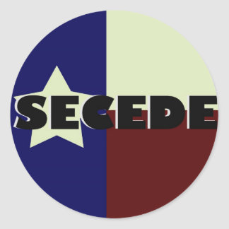 TEXAS SECEDE STICKERS