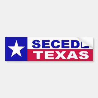 Texas secession bumper sticker
